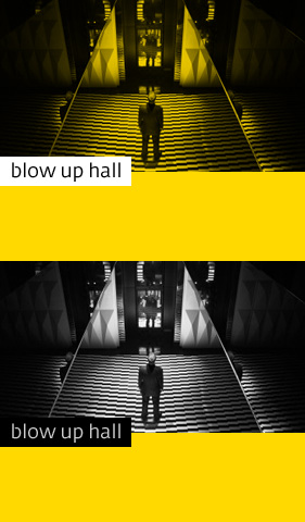 blow up hall